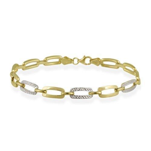 10-k-two-tone-gold-bracciale-ad-elementi-rettangolari-vuoti