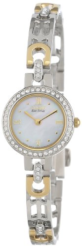 Citizen Women's EW8464-52D Eco-Drive Silhouette Crystal Accented Gold-Tone Watch