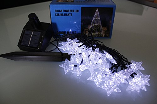 Led star lights string large white shaped covers