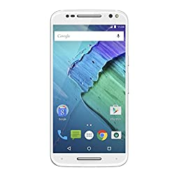 Moto X Pure Edition Unlocked Smartphone With Real Bamboo, 32GB White/Bamboo (U.S. Warranty - XT1575)