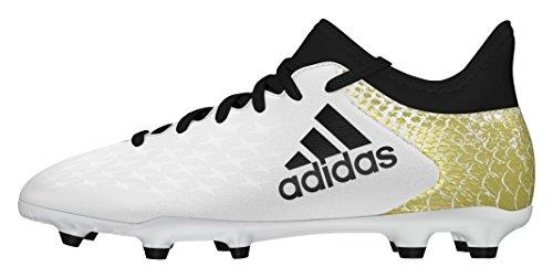 adidas X 16.3 FG J - Scarpe da calcio da Bambini, taglia 38,2/3, colore Bianco