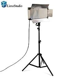 LimoStudio 500 LED Photo Video Studio light Panel LED Video lighting Kit Dimmer Mount, AGG1088