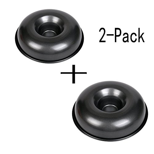 Meleg Otthon Donut Mold Pan non-stick, Big Top Donut pan mould, 2 Pack