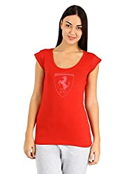 Puma Women's Body Blouse Top (57069202_Rosso Corsa_X-Large)
