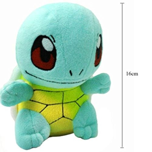 """New 6.5"""" SQUIRTLE Lovely Stuffed Soft Plush Toys Doll figure Xmas Gift Pokemon MTS"""