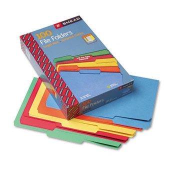Smead® Colored File Folders FOLDER,LGL,11PT,1/3,AST (Pack of2)