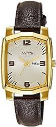 Sonata Analog White Dial Womens Watch - ND7094YL02