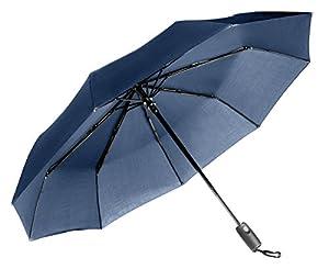 Repel Easy Touch Umbrella 11.5-Inch DuPont Teflon Travel Umbrella, Navy Blue