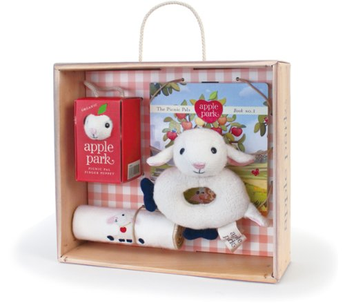 Apple Park Baby Gift Crate, Lamby