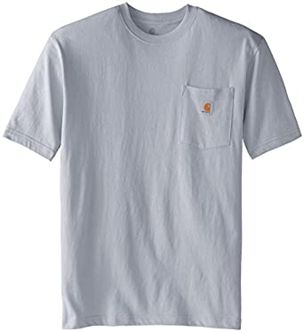 Carhartt Men's  Workwear Pocket Short Sleeve T-Shirt K87, Ash, Small