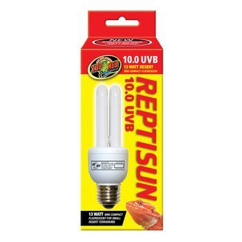 Zoo Med 25157 Reprising 10.0 UVB Compact 13W Fluorescent Lamp, Mini