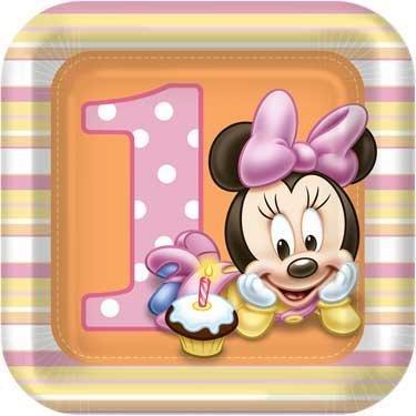 Hallmark Minnie's 1st Birthday Dessert Plates - 8 ct - 1