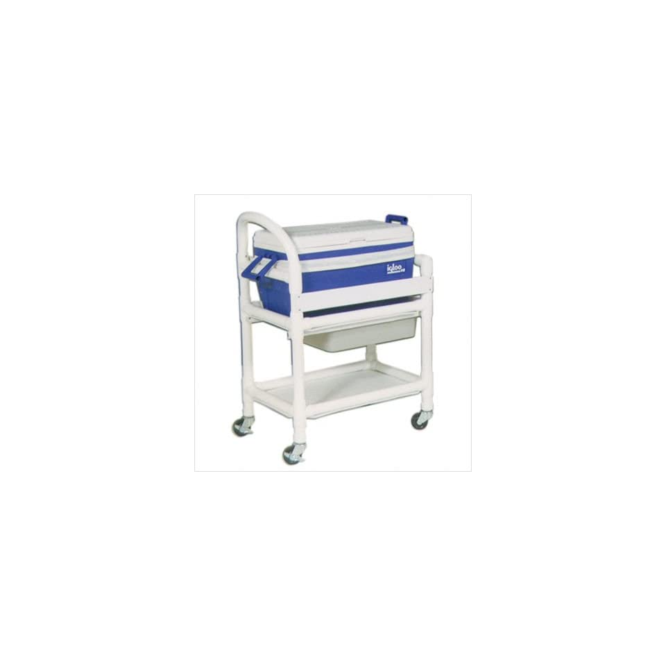 MJM International 810 Hydration Cart with 48 Quart Ice Chest and Side Panels Color Royal Blue