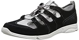 Rockport Women\'s Cycle Motion Washable Bungie Water Shoe, Black/Dark Sky Washable, 7 W US