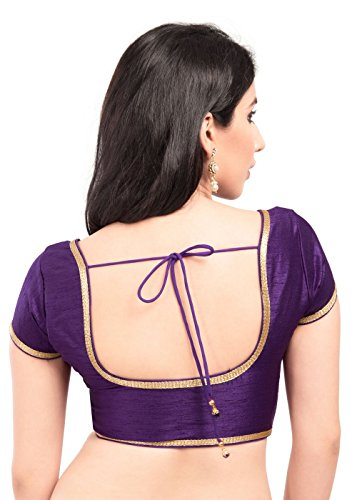 Eggplant Party-wear Silk Ready-Made Indian Saree Blouse - X-193SL