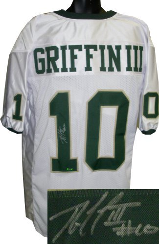 Robert Griffin III signed Baylor Bears White Custom Jersey- RG3 Hologram at Amazon.com