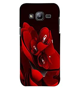 ColourCraft Beautiful Rose Design Back Case Cover for SAMSUNG GALAXY J2 DUOS