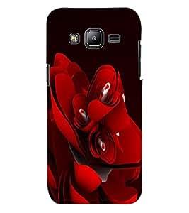 ColourCraft Beautiful Rose Design Back Case Cover for SAMSUNG GALAXY J2 J200G
