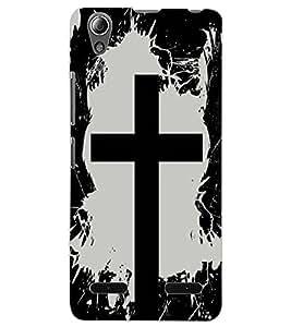 ColourCraft Holy Cross Design Back Case Cover for LENOVO A6000 PLUS