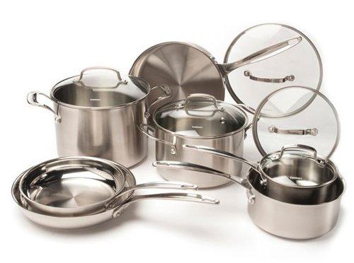 쿠진아트 12피스 쿡웨어 세트 Cuisinart CUISINART 12-Piece Stainless Steel Cookware Set, Chrome