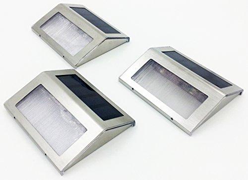 Shop Rit'z 暗くなったら 勝手に点灯 防水 ソーラー LED フット ガーデン ライト 高照度 色々なセットが選べる 【Rit'z オリジナルパッケージ】 (3個セット)