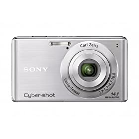 Sony Cyber-Shot DSC-W530 14.1 MP Digital Still Camera with Carl Zeiss Vario-Tessar 4x Wide-Angle Optical Zoom Lens and 2.7-inch LCD (Silver)