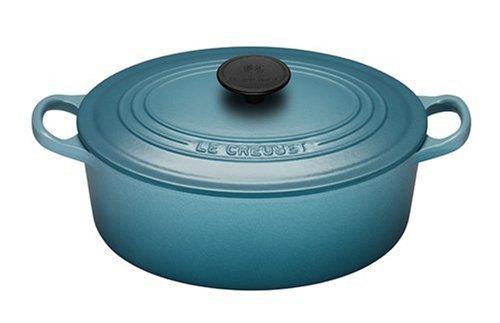 Le Creuset Cast Iron Oval Casserole, Teal, 29 cm