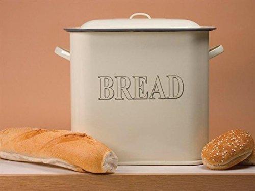 Falcon Enamel 34cm Oblong Bread Bin Cream [Kitchen & Home] (Bread Enamel compare prices)