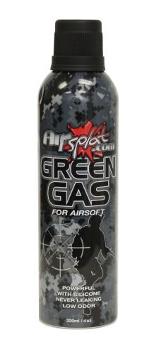 AirSplat 320ml HFC 22 Airsoft Green Gas (Airsplat Guns compare prices)