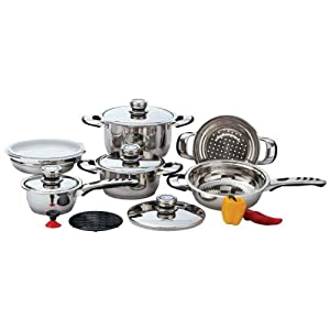 Chef's Secret? Chef's Secret? 12pc 9-Ply Heavy-Gauge Stainless Steel Cookware Set By LSBG at Sears.com
