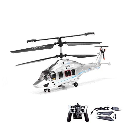 35-Kanal-RC-ferngesteuerter-Hubschrauber-Modell-24GHz-und-Gyro-Technik-Heli-Modellbau-Ready-to-Fly-inkl-Crash-Kit