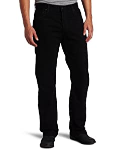 Levi's Men's 505 Straight Fit Jean, Black, 34x32