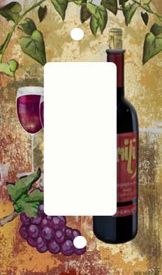 Red Wine and Grapes GFI Rocker Light Switch Cover (Grape Light Switch Cover compare prices)