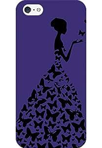 AMEZ designer printed 3d premium high quality back case cover for Apple iPhone 5S (dark purple princess)