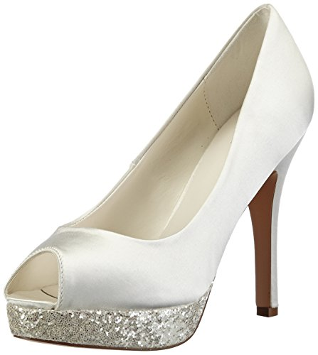 Menbur Wedding Aitana, Decolleté open toe donna, Avorio (Elfenbein (Ivory 04)), 37