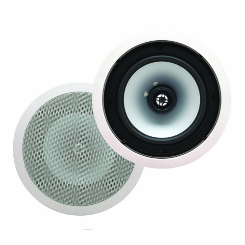 Energy Eas-8C 8-Inch In-Ceiling Speakers (Pair, White)