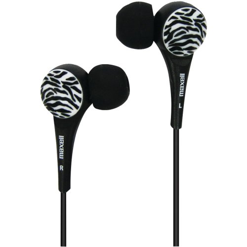 Maxell 190269 Wild Things Earbud (Black)