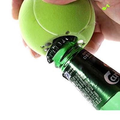 Bier & Soda Musical Flaschenöffner Kühlschrank Magnet Nachricht Tennisball Form