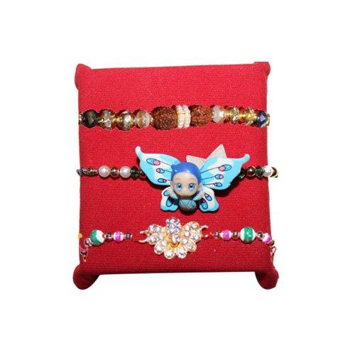 handicrunch-rakhi-set-of-3-elegant-designer-kids-rakhi-set-with-haldiram-soan-papdi