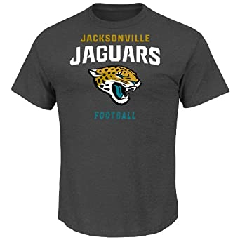 NFL Jacksonville Jaguars Mens Inside Line III Crew Top, Charcoal, XX-Large by VF