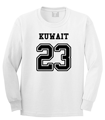 country-of-kuwait-23-team-sport-style-jersey-mens-long-sleeve-t-shirt-large-white