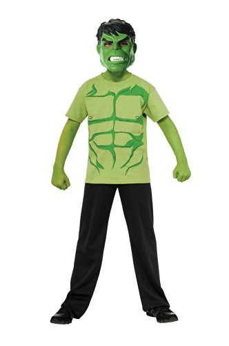 Marvel Avengers Assemble Incredible Hulk Costume T-Shirt with Mask, Large