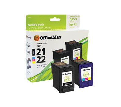 OfficeMax Remanufactured Black/3-Color Ink Cartridge Replacement for HP 21/22