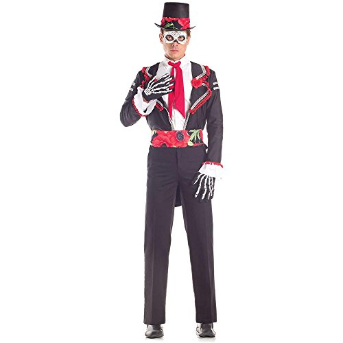 Day of the Dead Floral Senor Adult Costume