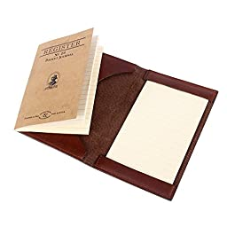 Col. Littleton Leather Pocket Journal Writing Notepad No. 23 - Brown