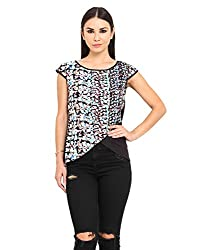 MSMB Multi & Black Coloured Polyester Blouse Small