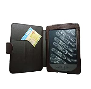 """Buch-Art-Ledertasche-Hülle mit Magnetverschluss für das NEUE Amazon Kindle 4 / 6""""6 Zoll E-Ink-Display, Oktober 2011 (Braun)"""