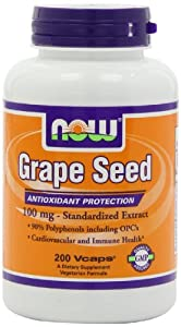 美国制造NOW Foods Grape Seed Anti 100mg葡萄籽精华营养胶囊200粒SS后$19.06
