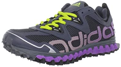 adidas Women's Vigor 2 Trail Running Shoe,Dark Onix/Lab Purple/Lab Lime,8 M US