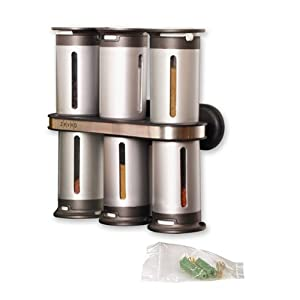 Zero Gravity Wall Mount Magnetic Spice Set - 6 canister
